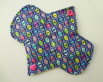 """6"""" Light Flow - Colorful Eyes - Waterproof Reusable Cotton Cloth Sanitary Pad"""