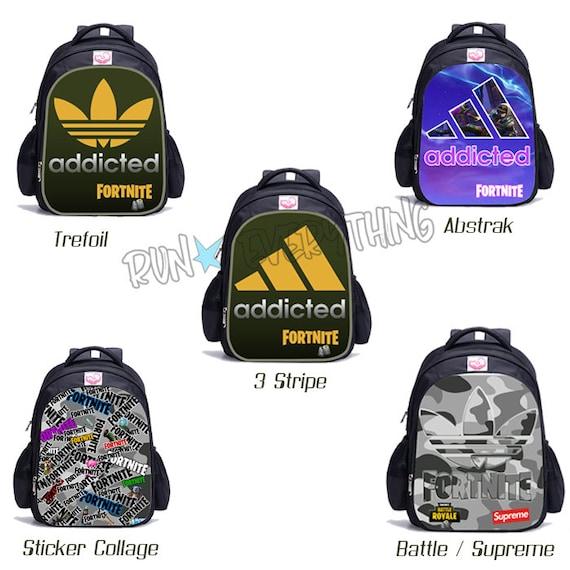 Addicted To Adidas Fortnite Battle Royale Back Pack Kids Men Etsy
