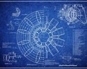 Items similar to iron man 2 arc reactor blueprint on etsy iron man 2 arc reactor blueprint malvernweather Choice Image