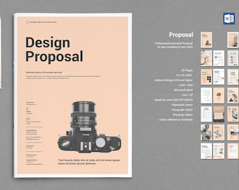 Proposal Print Template   InDesign Template   Word Template