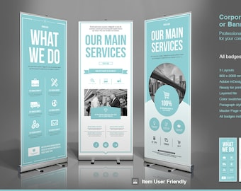 Business Roll-Up Banner | InDesign Template