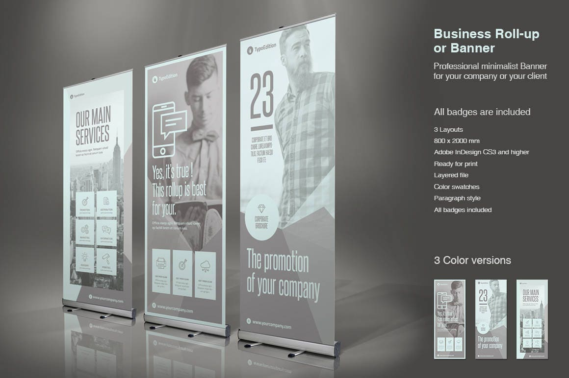 Banner Roll-Up de negocios Plantilla de InDesign