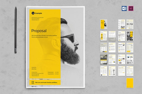 Business Proposal Print Template Indesign Template Word Etsy