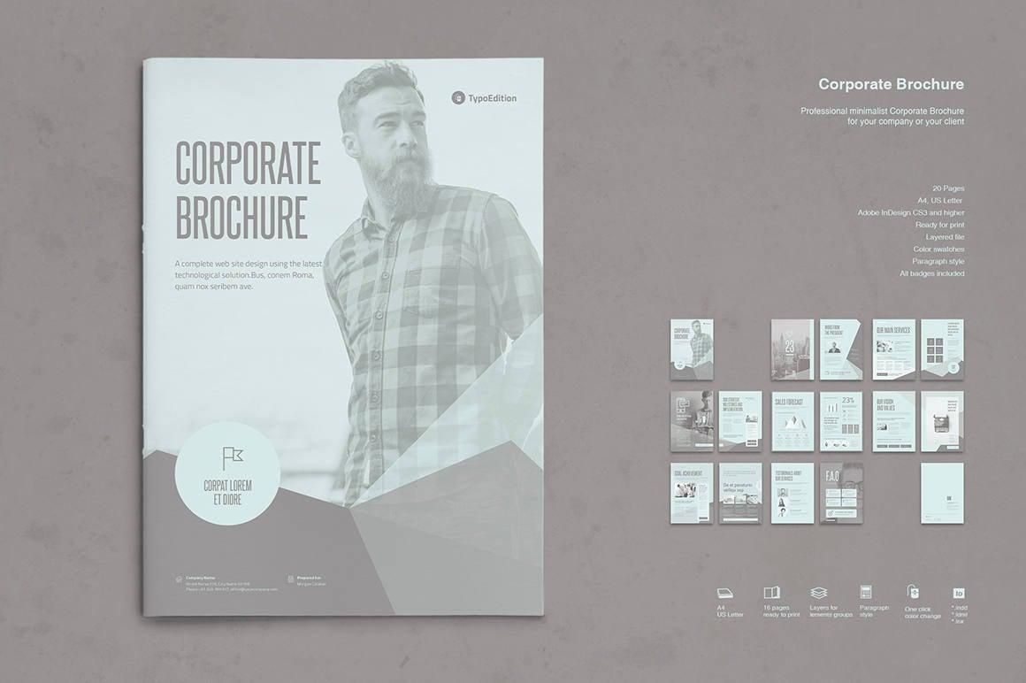 Negocio folleto impresión plantilla Plantilla de InDesign