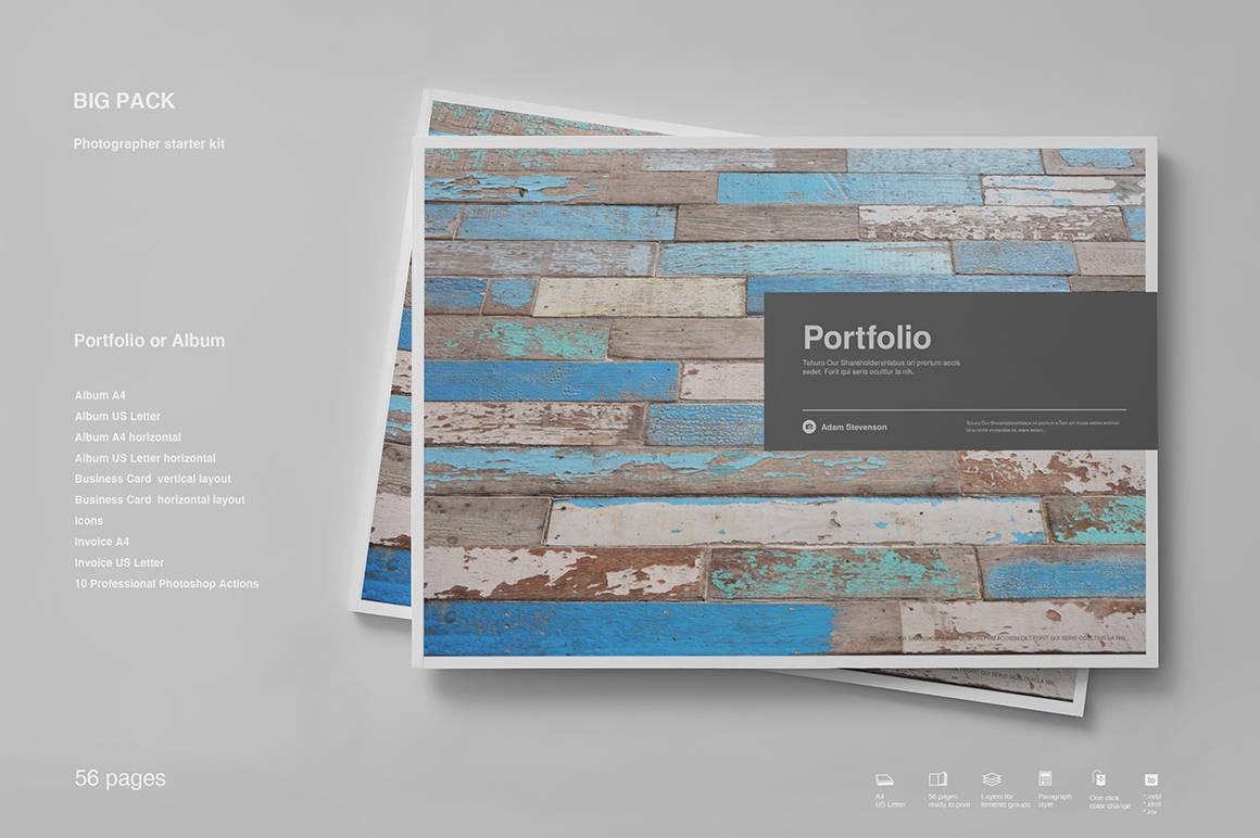 Paquete de cartera Plantilla de InDesign | Etsy