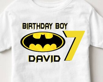 Batman Birthday Shirt - Custom Batman Birthday - Custom Batman Birthday Shirt -