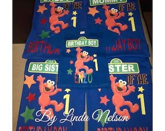 Boys Sesame Street Birthday Shirt Elmo Big