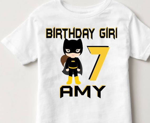 Batgirl Birthday Shirt Custom