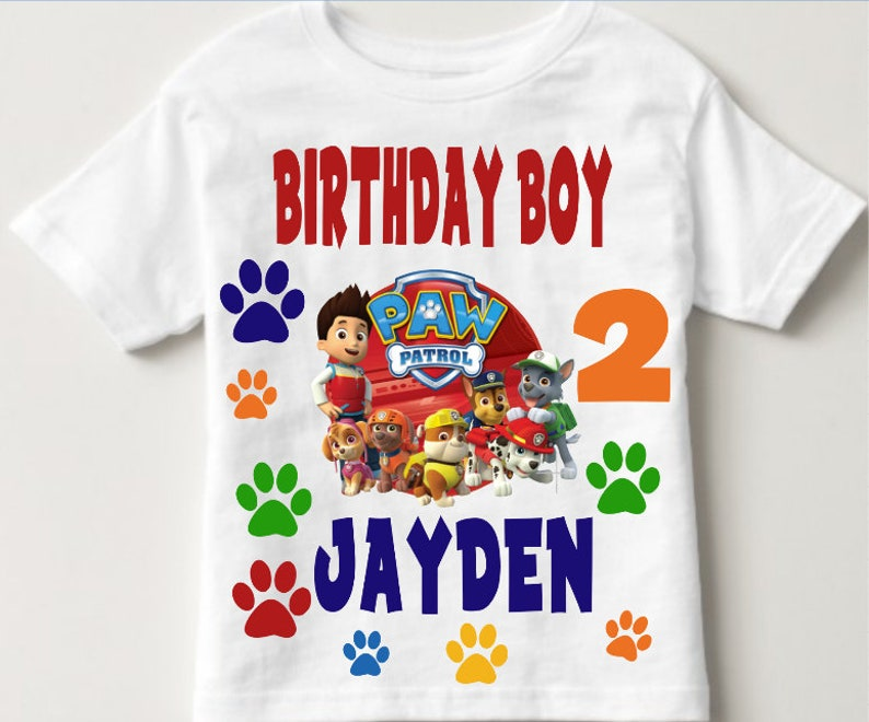 Paw Patrol Birthday Shirt Boys