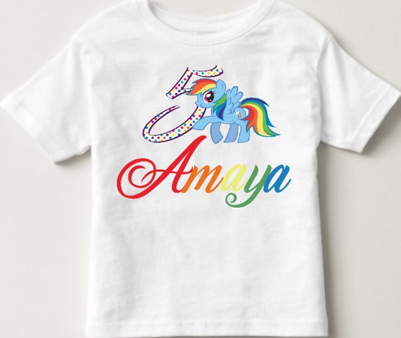 Rainbow Dash Birthday Shirt My Little