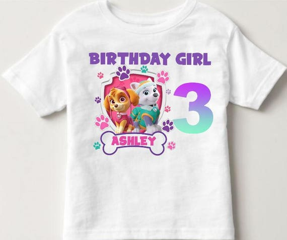 Girls Paw Patrol Shirt Birthday