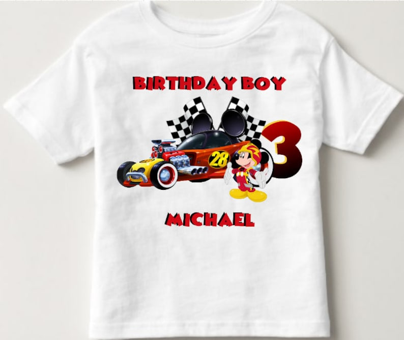 Roadsters Birthday Shirt Mickey Mouse Custom