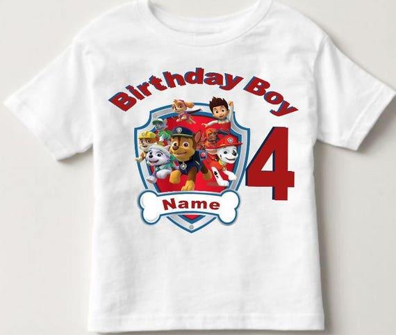 Boys Paw Patrol Birthday Shirt