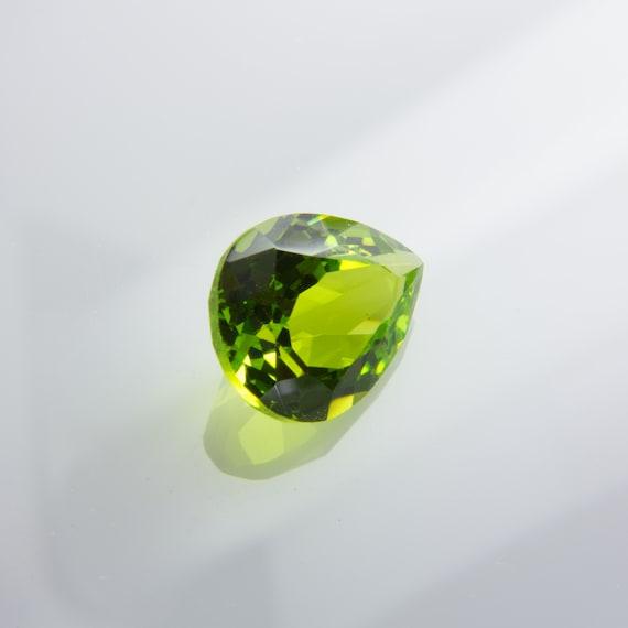 2.14ct Nanosital Peridot Chrysolite #14 Excellent Hand Cut Oval 9x7 mm