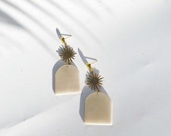 CELESTE // Modern Boho Drop Earrings. Multiple Colors.