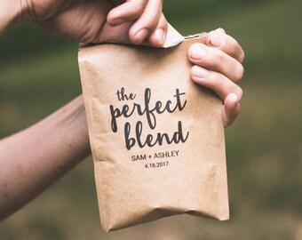 The Perfect Blend Unique Coffee Wedding Favors for Guests | Custom Wedding Favors | Rustic Wedding | Gifts for Guests | Reception Favors
