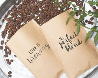Ready to Ship Wedding Favors | Wedding Gifts for Guests | Unique Wedding Favors Love is Brewing The Perfect Blend Wedding Gifts for Couples