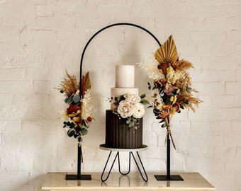 Cake Arch with detachable feet. Please read listing. Not powder coated.