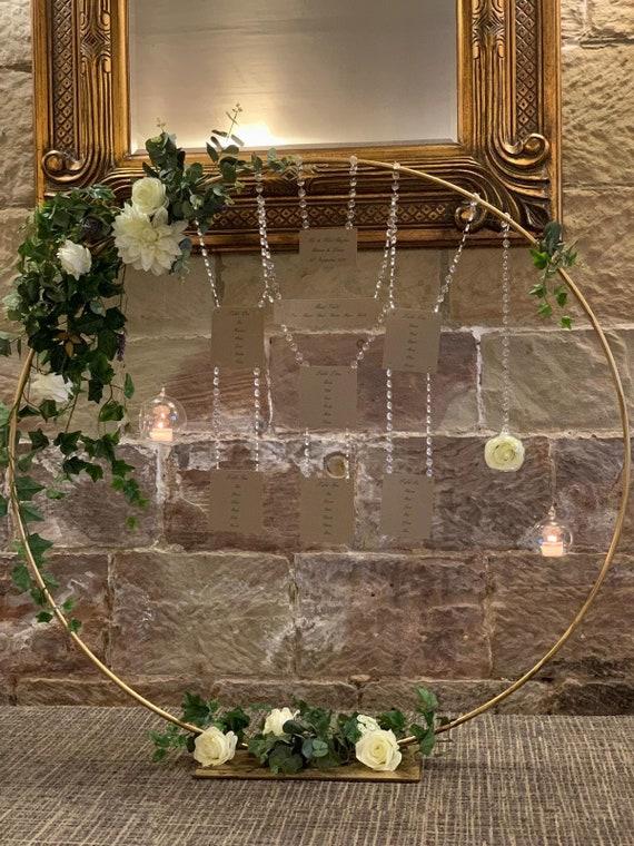 Plan De Sièges Stand Cerceau Stand Complet Avec Base Attachée Floral Hoop Stand Idéal Pour Les Fleuristes Les Fabricants De Gâteaux Et Les Commodes