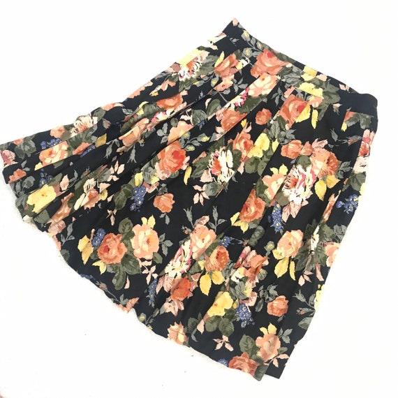 """Vintage Star Of India 26"""" Waist Mini Skirt Pleated"""