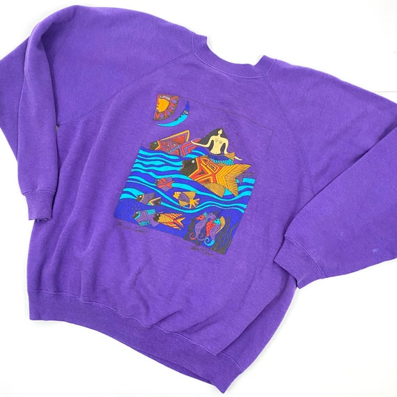 Vintage Lauren Burch XL Crewneck Sweatshirt Mermai