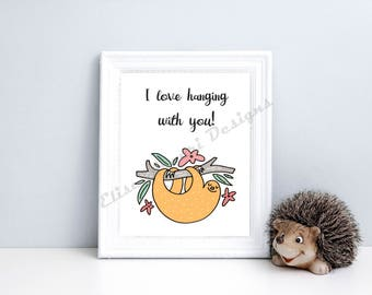 Hanging with you Nursery Print