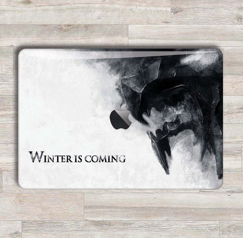 the latest 223d4 c18b2 MacBook Decal Game Of Thrones MacBook Skin Stark Wolf MacBook Sticker  MacBook Air Starks Logo Laptop Skin Pro Winter Keyboard Decal MS 902