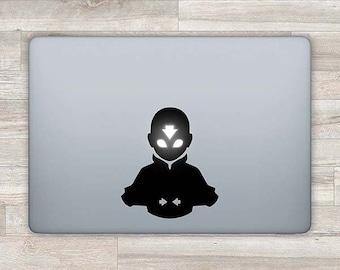 Avatar MacBook Decal Avatar Aang MacBook Sticker Apple Logo MacBook Retina Air MacBook Pro 2016 13 Retina Laptop Decal Laptop Sticker Z 1124