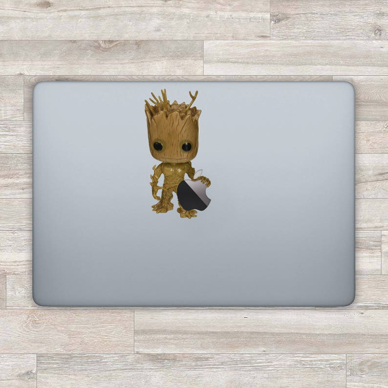 51ed91e5bb3a4 Groot MacBook Decal Superhero MacBook Sticker Guardians Of The | Etsy