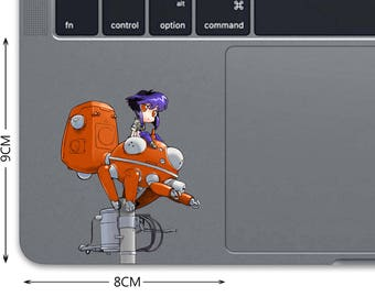 Ghost In The Shell Decal MacBook Decal MacBook Sticker Trackpad Decal Laptop Decal Laptop Sticker Pro Touchpad Sticker Major Matoko D 0527