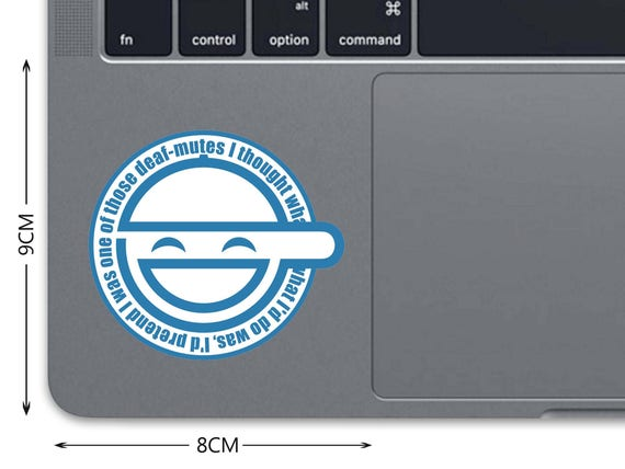 Ghost In The Shell Decal MacBook Decal MacBook Sticker Trackpad Decal  Laughing Man Touchpad Sticker Laptop Decal Laptop Sticker Pro D 0530