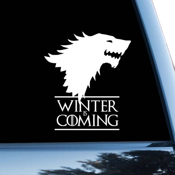 Game Of Thrones Car Sticker Starks Car Decal Dire Wolf Symbol Etsy