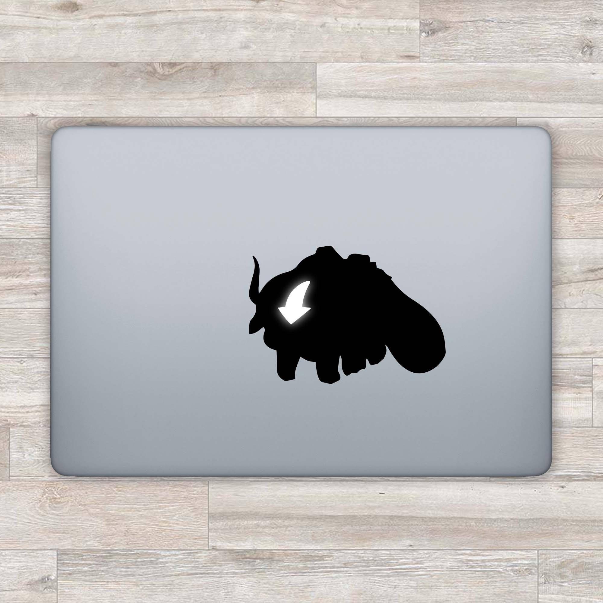 Avatar macbook decal appa macbook sticker apple logo aang etsy