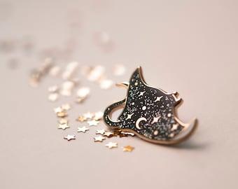 Cosmic Ray - Black Glitter - Hard Enamel Pin