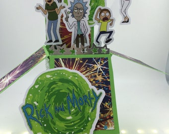 Rick and Morty 3D Pop Up Card