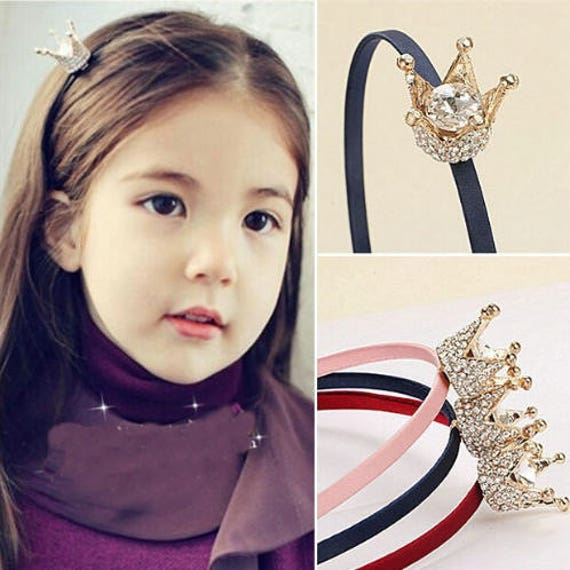 Mini Crown Tiara Girl Headband. Toddler Hair Accessories.  0e8df2a36d1