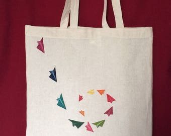 Shopping Bag colored paper planes