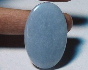 Amazing !! Angelite cabochon~Natural Angelite Gemstone~Top Quality Angelite Loose stone~Angelite Jewellery~Angelite[34x21]mm#3121