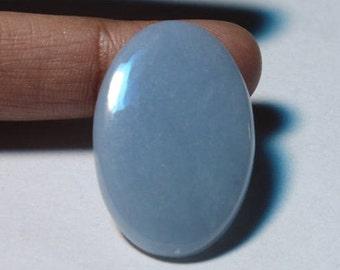 Amazing !! Angelite cabochon~Natural Angelite Gemstone~Top Quality Angelite Loose stone~Angelite Jewellery~Angelite[29x19]mm#3125