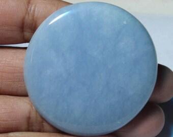 Amazing !! Angelite cabochon~Natural Angelite Gemstone~Top Quality Angelite Loose stone~Angelite Jewellery~Angelite[42x42]mm#3115