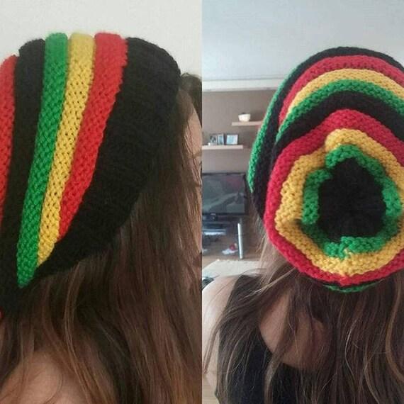 Rasta Mütze Rasta Mütze stricken Jamaika Hut Vegan | Etsy