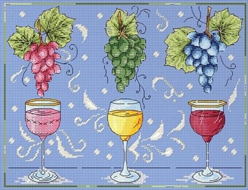 Wine Wall Art Wine Embroidery Kit Wine Lover Gift Wine Picture Kit Wine Lover Kit Wine Home Decor Modern Art Kit Modern Decor