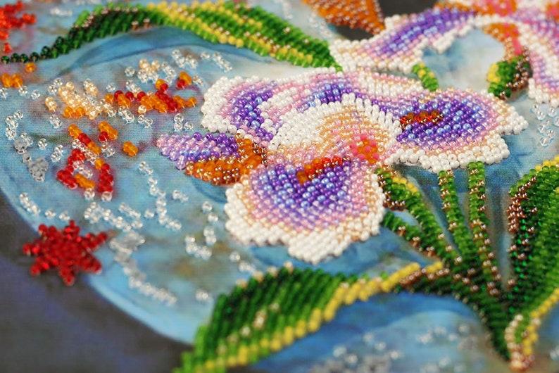 Fantasy Embroidery Fantasy Wall Art Fantasy Bead Embroidery Fantasy Home Decor Artistic Bead Embroidery Artistic Wall Art