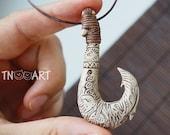 Maui Necklace Maui fish hook Pendant Moana Disney handmade polymer clay jewelry fimo pendant Moana kids jewel Moana costume party