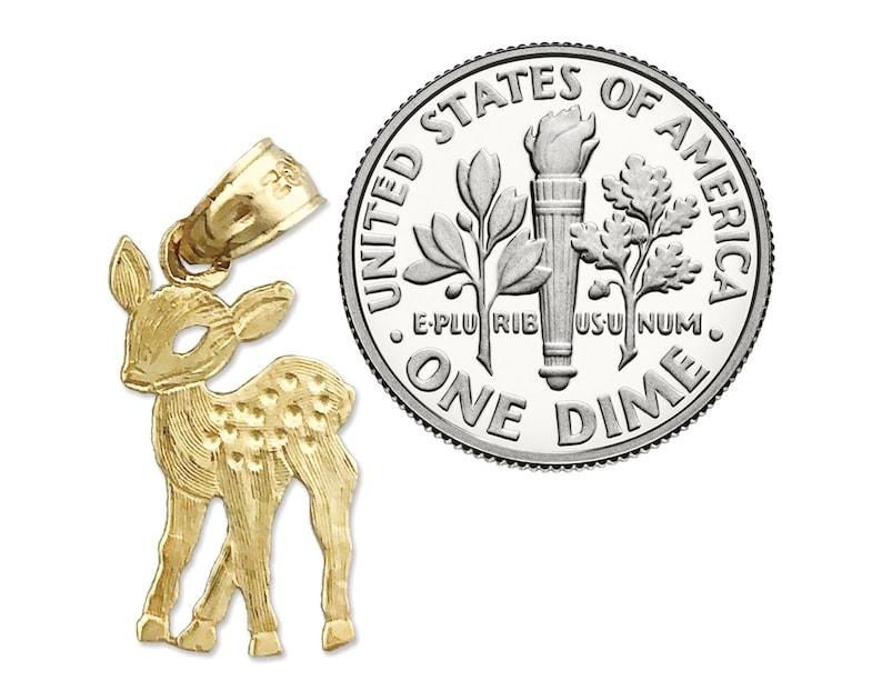 14K Gold Bambi Charm