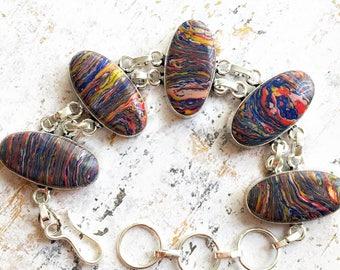 Rainbow Mosaic Jasper Bracelet