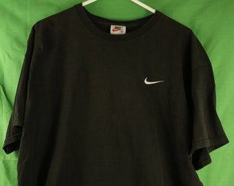f827cffe Vintage 90s Nike Embroidered Swoosh Logo T Shirt XL Made in USA Black