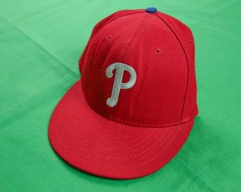 VTG 80s Philadelphia Phillies Snapback Cap Made in USA Red Eagles Vintage  Retro MLB d130a00950d