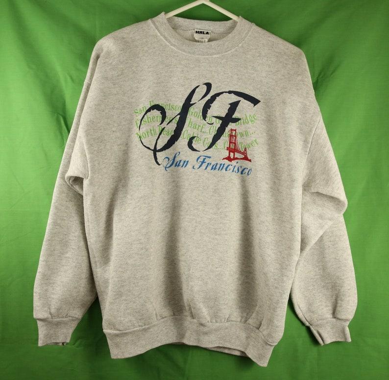 on sale 5e40c 0a5d6 Vintage 90s San Francisco Crewneck Sweatshirt Large Made in USA Heather  Grey SF Giants 49ers Golden Gate Bridge California