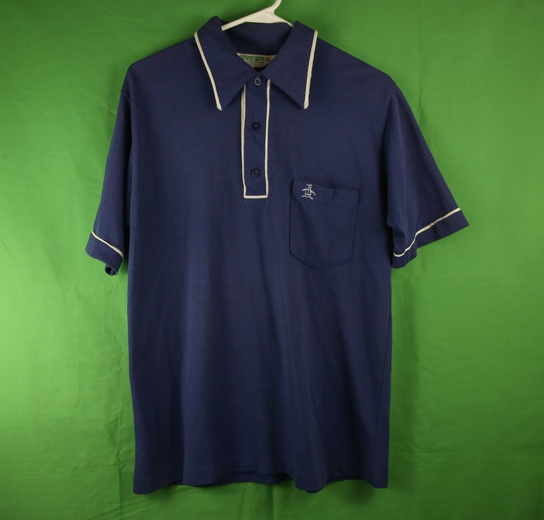 b7ec1653815 Vintage 80s Munsingwear Grand Slam Penguin Polo Shirt Medium